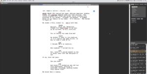 Fade In screenplay format