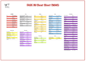 Fade in Cheat Sheet Preview