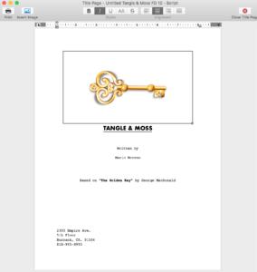 Final Draft 12 - Title Page I