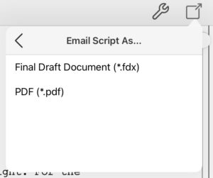 Final Draft Mobile Email Script As