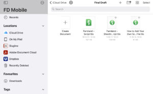 Final Draft Mobile FD Folder