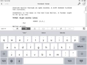 Final Draft Mobile - Keyboard