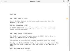 Final Draft Mobile Sample Script