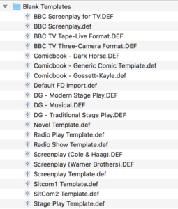 Movie Magic Screenwriter - Blank Templates
