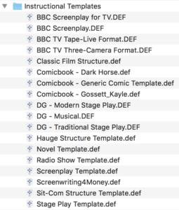 Movie Magic Screenwriter - Instructional Templates