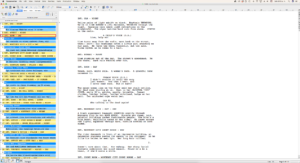 Movie Magic Screenwriter - Interface