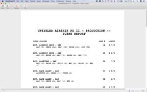 Scene Report Final Draft 11