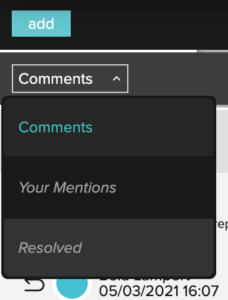 Screenwriting with Celtx - comments menu