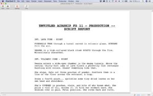 Script Report Final Draft 11