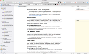 Scrivener 3-Act Story Structure Template Preview