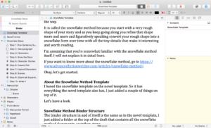 Snowflake Template Scrivener Preview