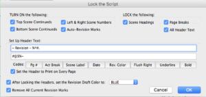 Movie Magic Screenwriter - Lock Script