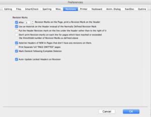 Movie Magic Screenwriter - Revision Preferences