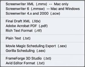 Movie Magic Screenwriting - Exporting Your Script