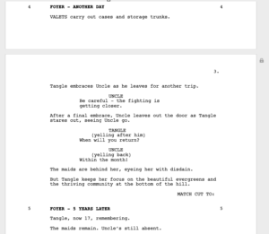 Production Rewrites Cycle - Scene Numbers Locked Pages