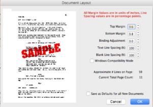 Movie Magic Screenwriter - Cheat Document