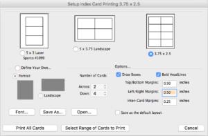 Movie Magic Screenwriter - Index Cards Print
