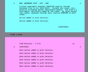 Movie Magic Screenwriter - Locked blue and pink