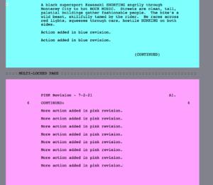 Movie Magic Screenwriter - Multilock A1 pink