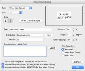 Movie Magic Screenwriter - Watermark Setup