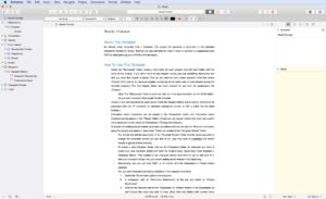 Scrivener - Interface