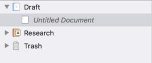 Scrivener 3 Main Folders
