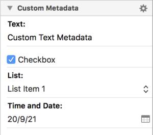 Scrivener Custom Metadata Inspector