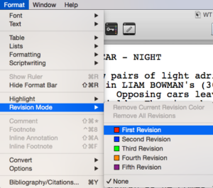 Scrivener Revision Mode First Revision