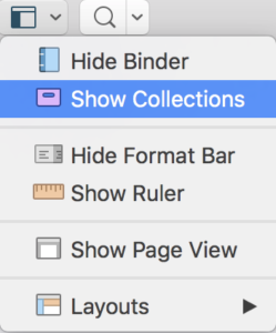 Scrivener Show Collections