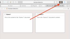 Scrivener View Modes - Corkboard Mode