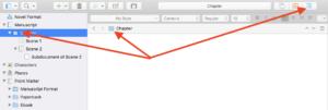 Scrivener View Modes - Deactivate View Mode