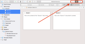 Scrivener View Modes - View Modes