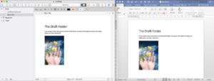 Scrivener Word Comparison