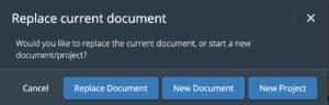 WriterDuet Import Replace Document